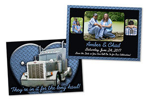Amber & Chad Save The Date Wedding Postcard