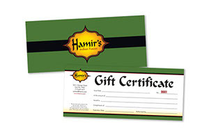 Hamir's Indian Fusion Gift Certificate