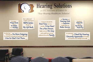 Hearing Solutions Customer Testimonial Wall Art