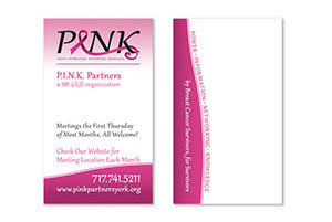 Pink Partners Business Card
